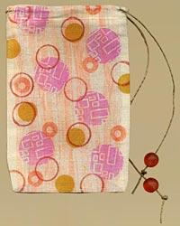Rubber Stamped Muslin Bag
