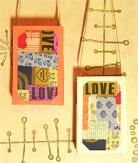 Collaged Valentine Candy Holder