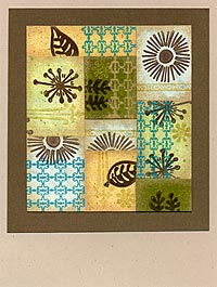 Rubber Stamped Floral Mosaic Card