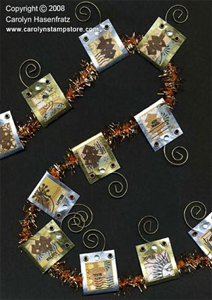 Inchies Holiday Card Holder Garland