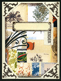 Seed Packet with Collage Insert