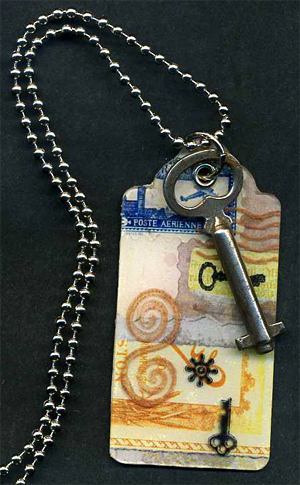 Vintage Collage Necklace